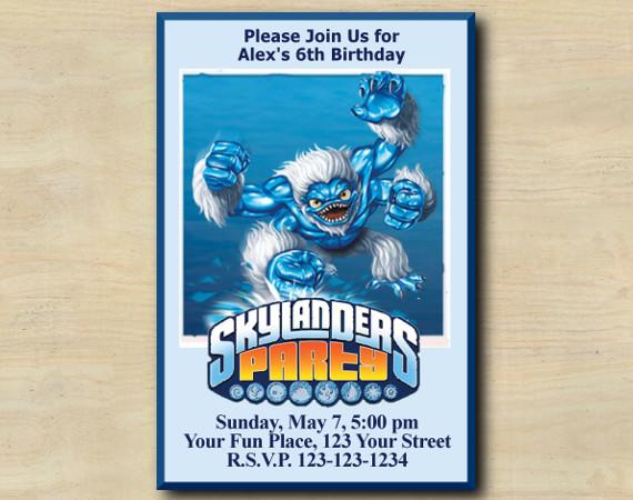 Skylanders Invitation |  | SlamBam | Personalized Digital Card