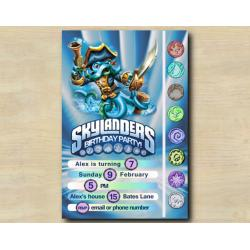 Skylanders Game Card Invitation | WashBuckler