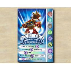 Skylanders Game Card Invitation | WhamShell
