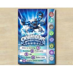 Skylanders Game Card Invitation | SlamBam