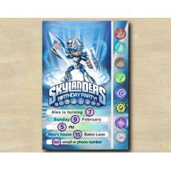 Skylanders Game Card Invitation | Chill