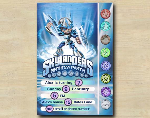 Skylanders Game Card Invitation | Chill | Personalized Digital Card