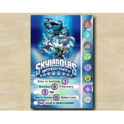Skylanders Game Card Invitation | Thumpback