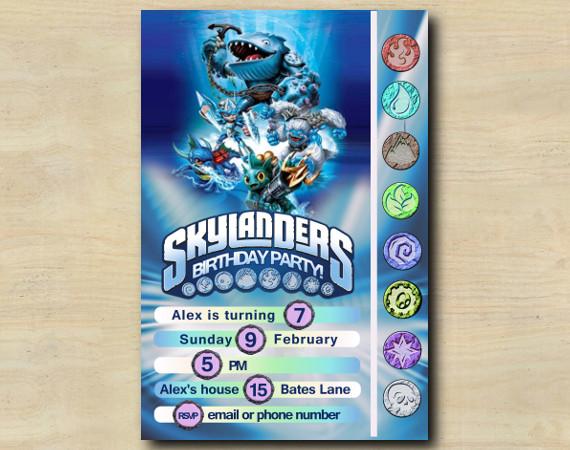 Skylanders Game Card Invitation | Thumpback | Personalized Digital Card