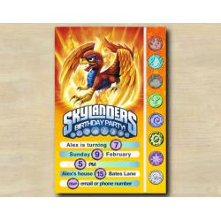 Skylanders Game Card Invitation | Sunburn