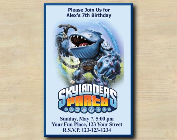 Skylanders Invitation | Thumpback | Personalized Digital Card