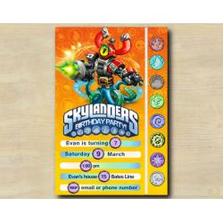 Skylanders Game Card Invitation | MagnaBuckler