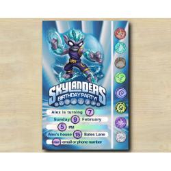 Skylanders Game Card Invitation | FreezeBlade