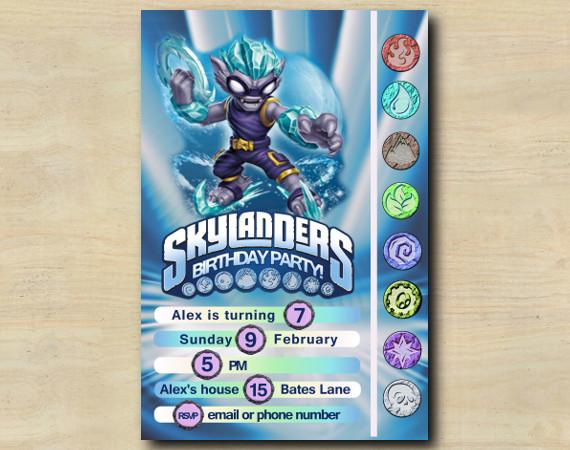 Skylanders Game Card Invitation | FreezeBlade | Personalized Digital Card