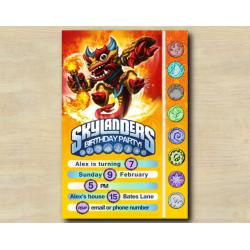 Skylanders Game Card Invitation | FireKraken