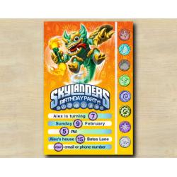 Skylanders Game Card Invitation |  JadeFireKraken