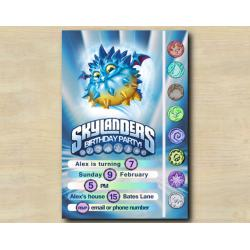 Skylanders Game Card Invitation | PopThorn