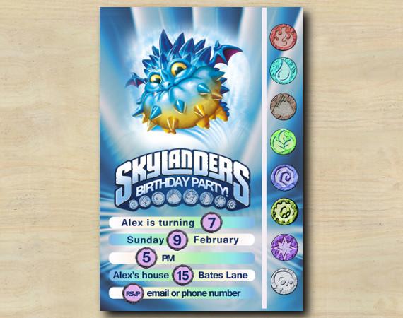 Skylanders Game Card Invitation | PopThorn | Personalized Digital Card