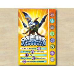 Skylanders Game Card Invitation | Drobot