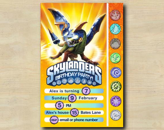 Skylanders Game Card Invitation | Drobot | Personalized Digital Card