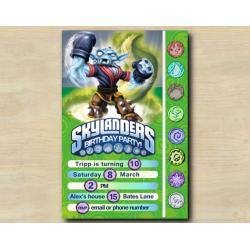 Skylanders Game Card Invitation | NightShift