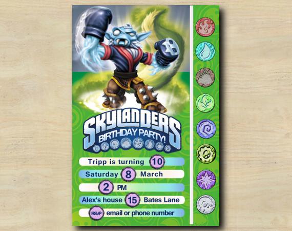 Skylanders Game Card Invitation   NightShift   Personalized Digital Card