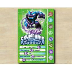 Skylanders Game Card Invitation | TrapShadow