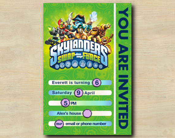 Skylanders Game Card Invitation | Personalized Digital Card