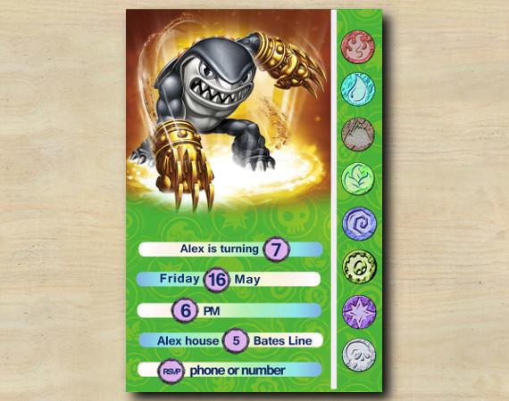 Skylanders Game Card Invitation | Terrafin | Personalized Digital Card