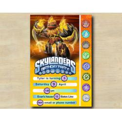 Skylanders Game Card Invitation | HotHead