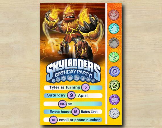 Skylanders Game Card Invitation | HotHead | Personalized Digital Card