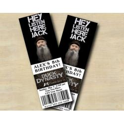 Duck Dynasty Ticket Invitation with Photo