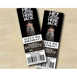 Duck Dynasty Ticket Invitation