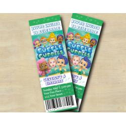 Bubble Guppies Ticket Invitation with Photo