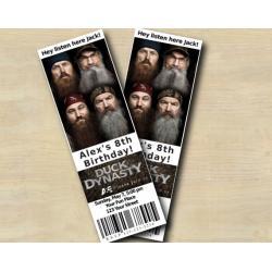 Duck Dynasty Ticket Invitation