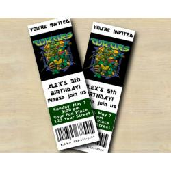 TMNT Ticket Invitation