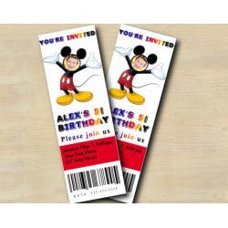 Mickey Ticket Invitation with Photo