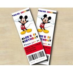 Mickey Ticket Invitation