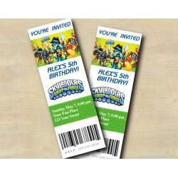 Skylanders Ticket Invitation