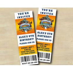 Skylanders Ticket Invitation