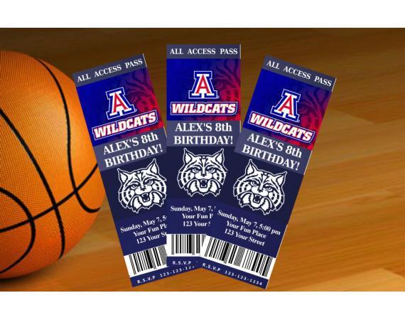 Arizona Wildcats Ticket Invitation | Personalized Digital Card