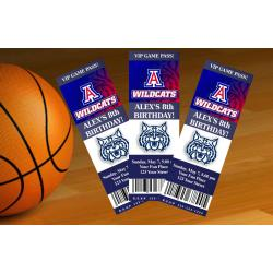 Arizona Wildcats InvitationTicket Style