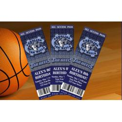 North Carolina Tar Heels Ticket Invitation