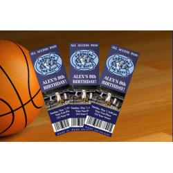 North Carolina Tarheels Ticket Invitation