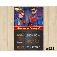 Henry Danger Invitation