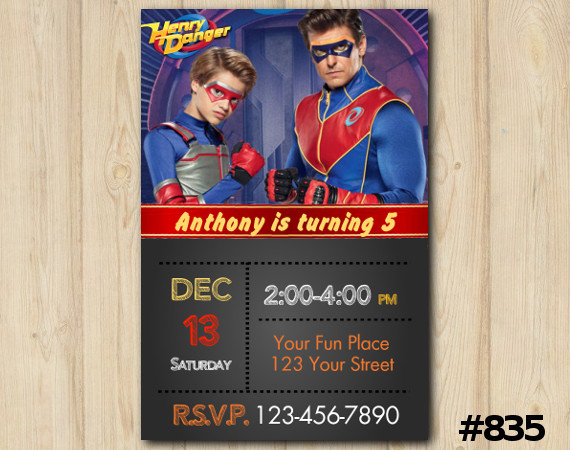 henry danger birthday invitation