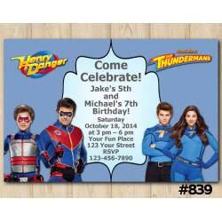 Twin Henry Danger and Thundermans Invitation