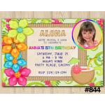 Luau invitation | Personalized Digital Card