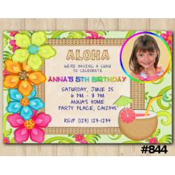 Luau Photo invitation