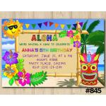 Luau invitation | Personalized Digital Card