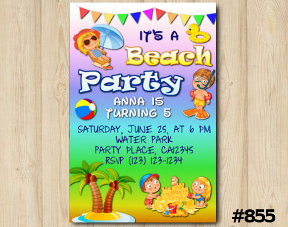 Beach Party invitation | Personalized Digital Card