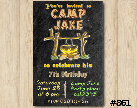 Camping Party invitation | Personalized Digital Card