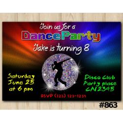 Dance Party invitation