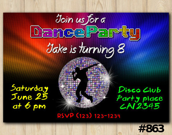 Dance Party invitation | Personalized Digital Card