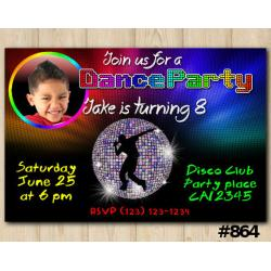 Dance Party Photo invitation